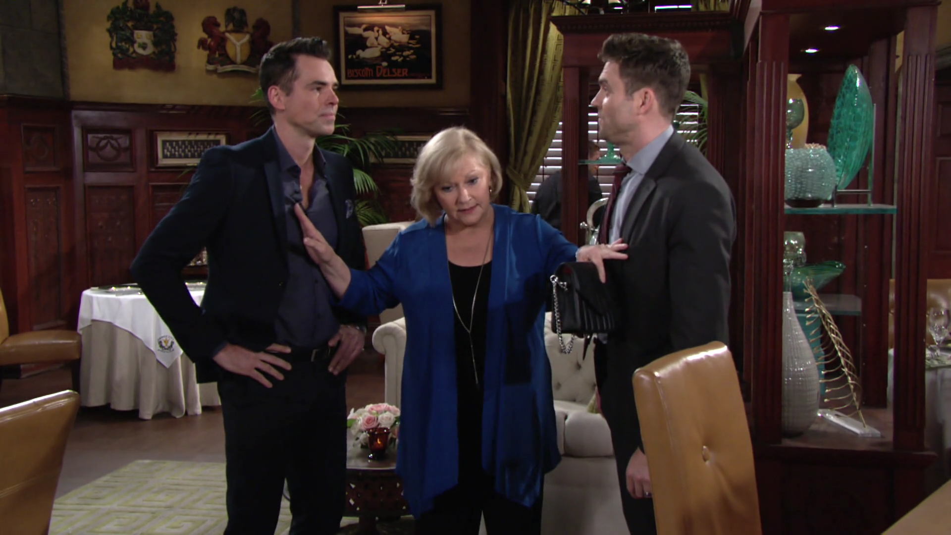 Traci Breaks Up A Fight Between Billy And Cane The Young And The Restless Y R Chat